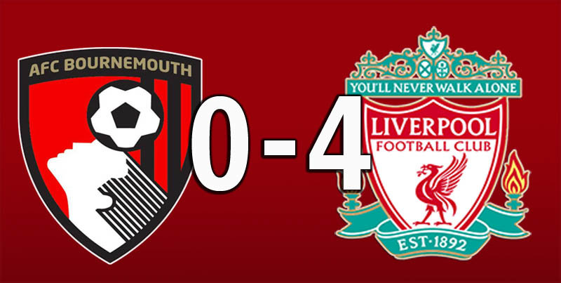 Bournemouth 0 Liverpool 4 (Dec 8 2018)