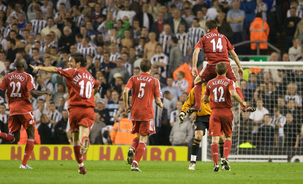 """Xabi Alonso's 70 yard screamer against Newcastle (2006/07)"" by Jason Harris"