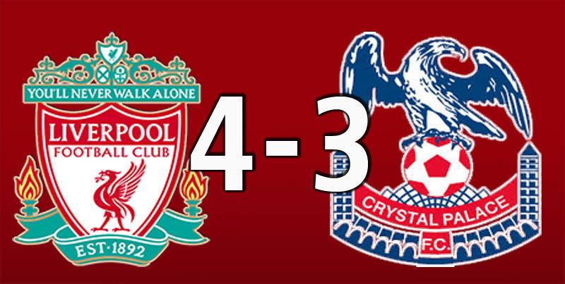 Liverpool 4 Crystal Palace 3 (Jan 19 2019)