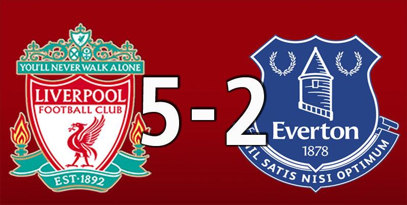 Liverpool 5 Everton 2 (Dec 4 2019)