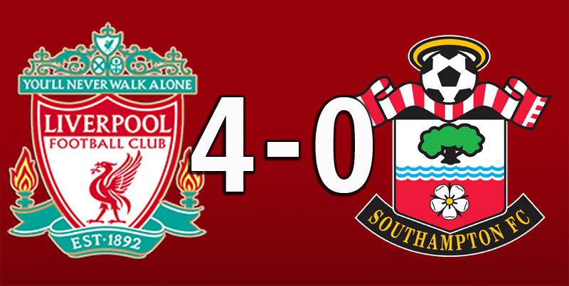 Liverpool 4 Southampton 0 (Feb 1 2020)