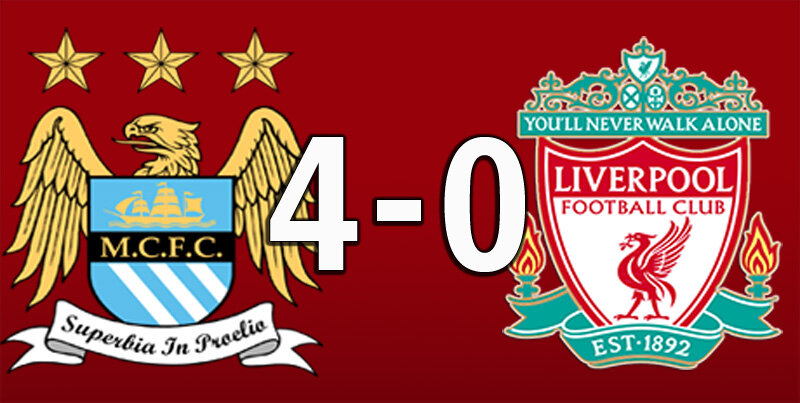 Manchester City 4 Liverpool 0 (Jul 2 2020)