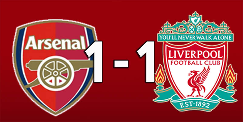 Arsenal 1 Liverpool 1 - Aug 29 2020 (Arsenal win 5-4 on pens)