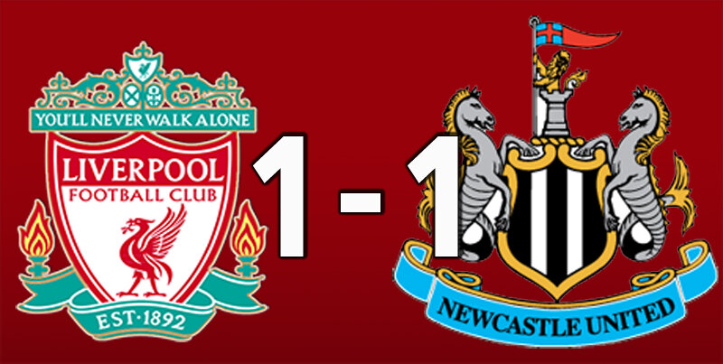 Liverpool 1 Newcastle 1 (Apr 24 2021)